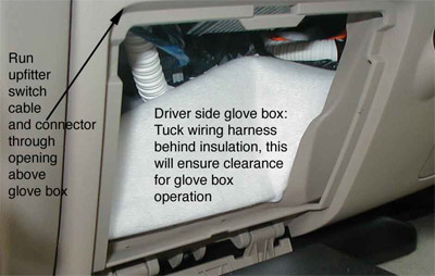 Insulation in driver glove box